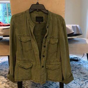 Sanctuary utility jacket. Distressed khaki green.